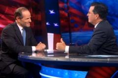 Spitzer Skewered On Colbert Report